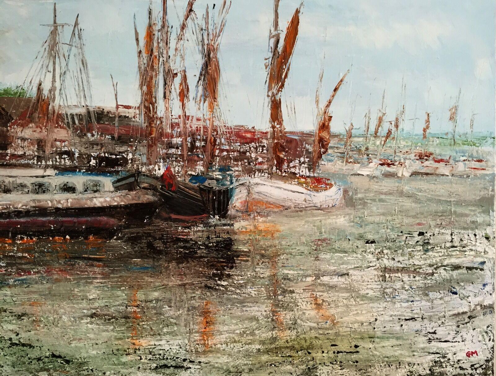 Thames Barges at Malden