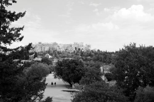 Acropolis from the Greek Agora, Athens