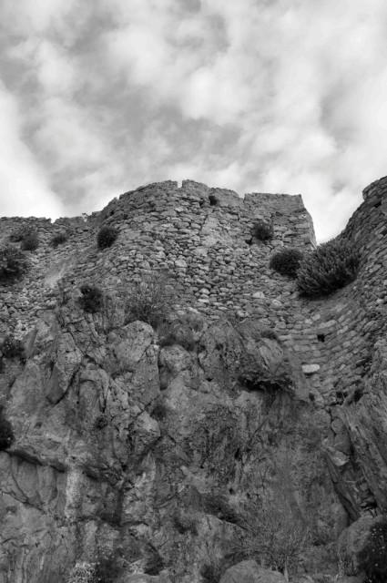 The walls of the Upper Town, Monemvasia