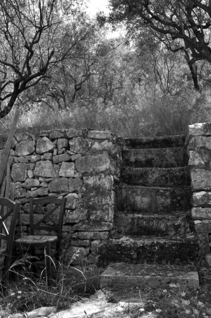 Steps to the taverna, Ithaca
