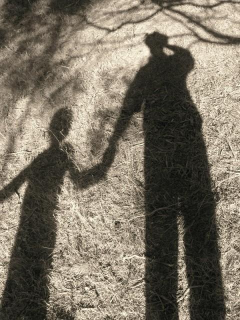 My shadow, my son, Rye 2009