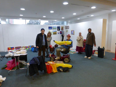 Getting the Bananas Art part of the Art As Therapy Exhibition ready!