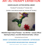 Art as Therapy Exhibition 2015 poster