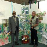 Sutton Mayor, Muhammad Sadiq and Arts Network Sutton's David Tribe