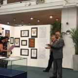 Sutton Mencap being awarded prize at Art as Therapy Exhibition, 2015