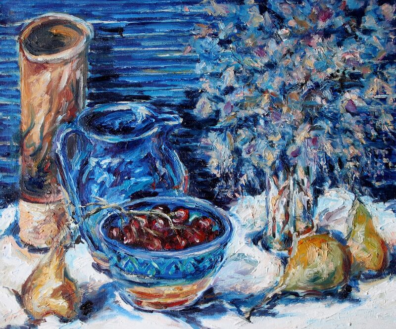 Still Life Pears and Grapes