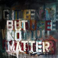 but no matter, 2013, 90x90x3.6cm, mixed media on canvas, SOLD