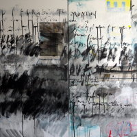 the way I see it, diptych, 101x152x1.6cm, mixed media on canvas, 2014