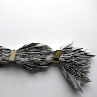 mountain fold (compressed), flexible dimensions, paper and metal clips, 2014