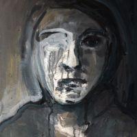 portrait 694, 50x40x1.6cm, mixed media on canvas, 2013