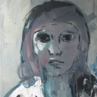 portrait 96, 50x40x1.6cm, mixed media on canvas, 2013