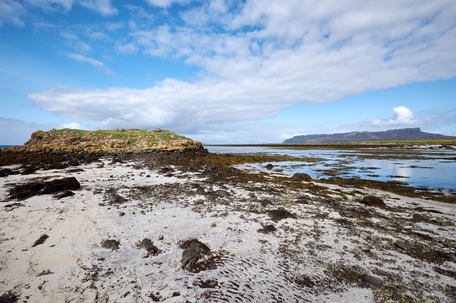 Beach view on the Isle of Muck