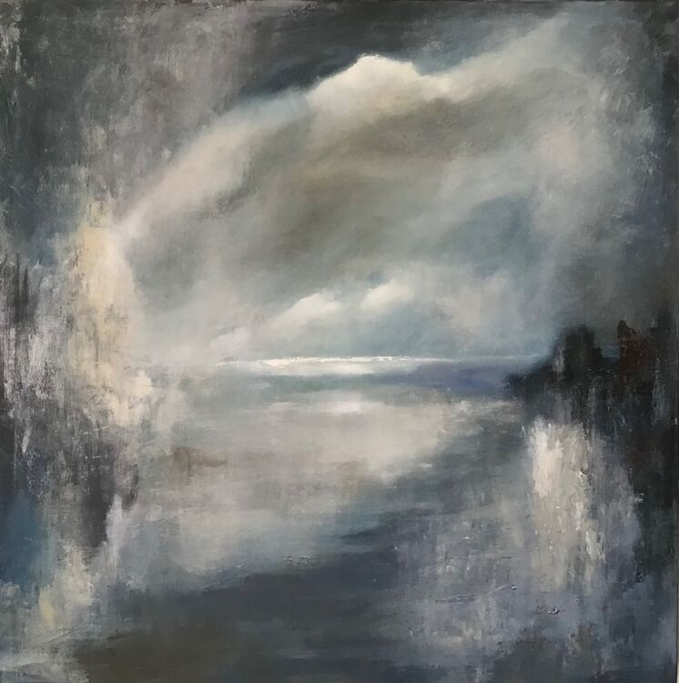 On Such a Night is an atmospheric painting by Ghislaine Beeson that is perfect for adding a calm focus to any room.