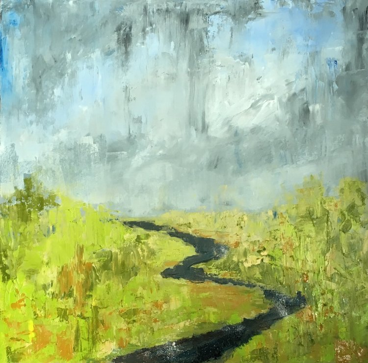 Meandering River- Rain Clouds
