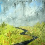 Meandering River- Rain Clouds