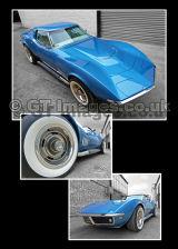 Blue 1968 Corvette