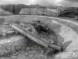 Cannon Remains from WW2 at Grosnez B&W