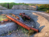 Cannon Remains from WW2 at Grosnez