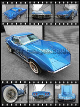 Blue Corvette 427 Composite