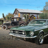 Mustang On Route 66