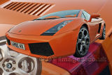 Orange Lambo Poster
