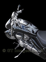 Suzuki Intruder M1800R with Skulls - Close up