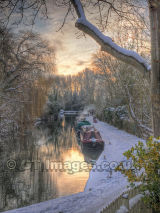 Winter Sunset on the River Stort