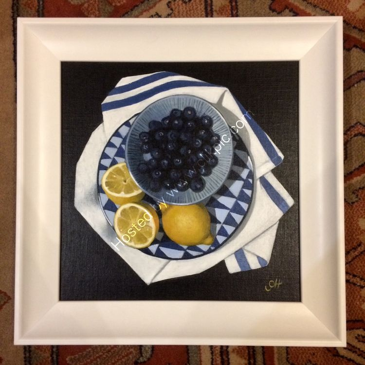 Blueberries and Lemons. SOLD