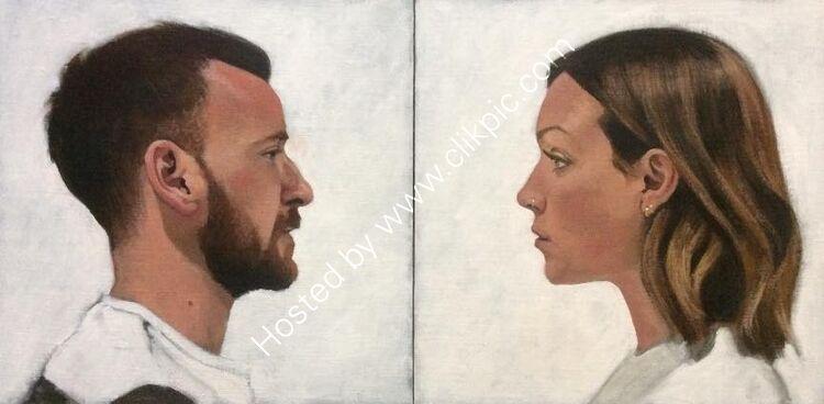 James and Clare (double portrait)