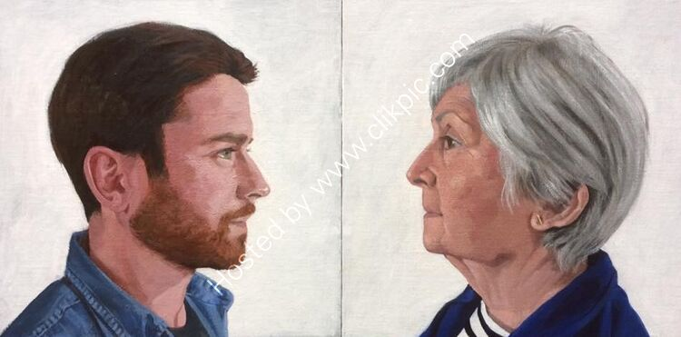 Mother and Son (Double Portrait)