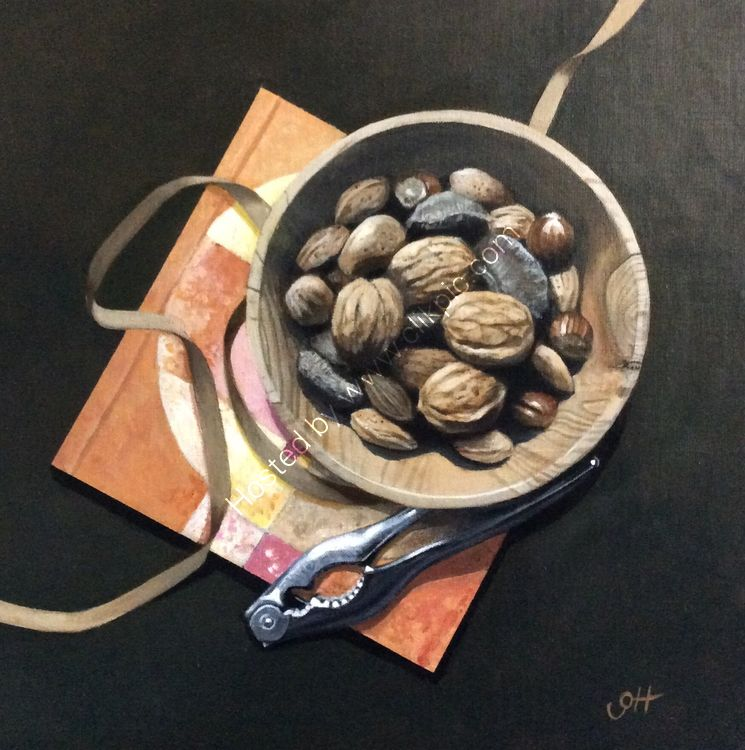 Bowl of Nuts on Art Book