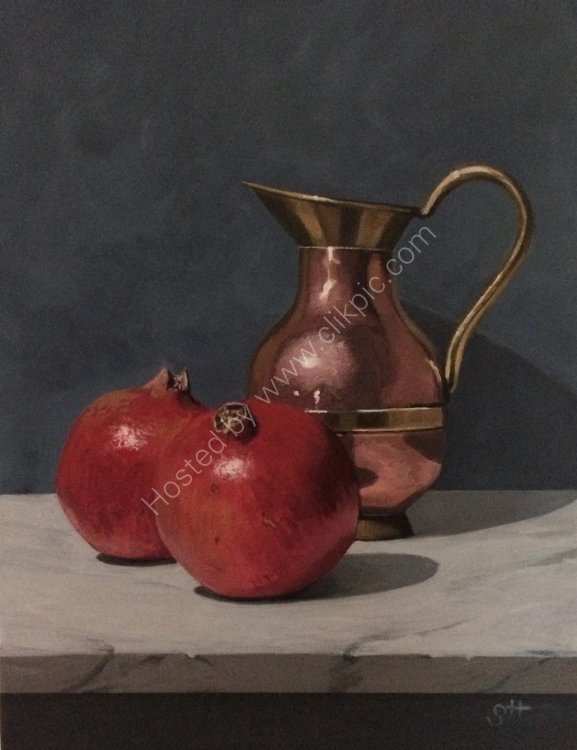 Copper Jug with Pomegranates (SOLD)