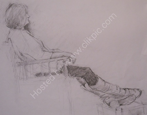 Drawing from Clothed Model