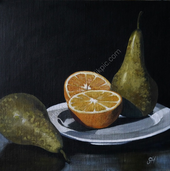 Pears and Orange (SOLD)
