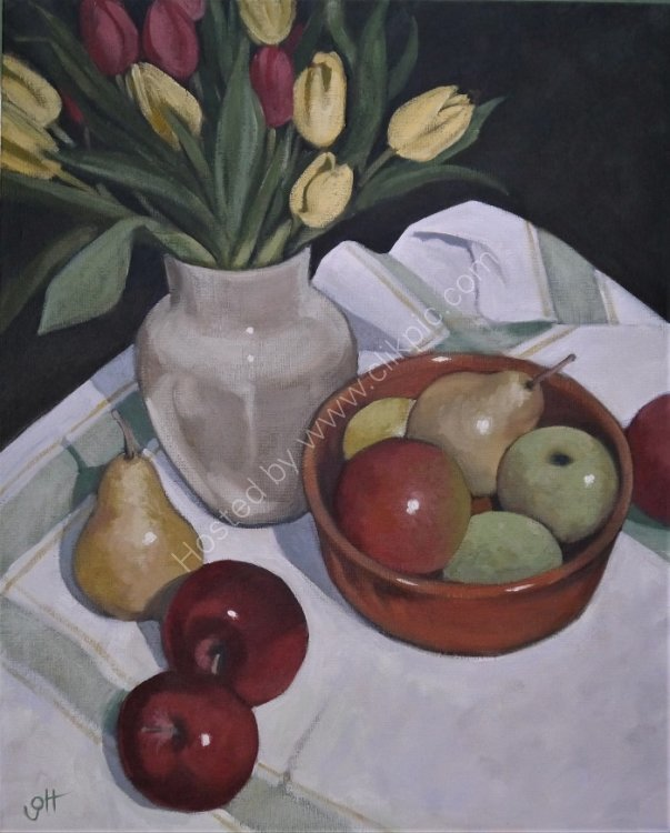 Tulips with Fruit