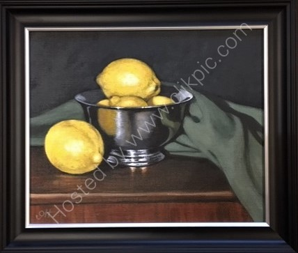 Silver Bowl with Lemons (SOLD)