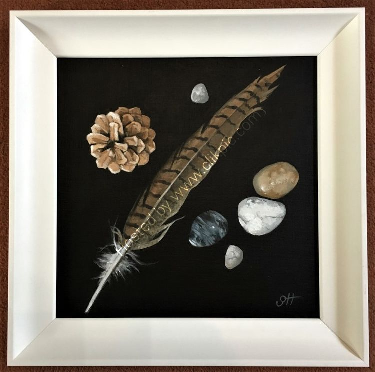 Feather, Cone and Pebbles