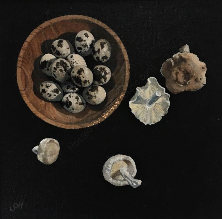 Quail's Eggs with Shitake Mushrooms