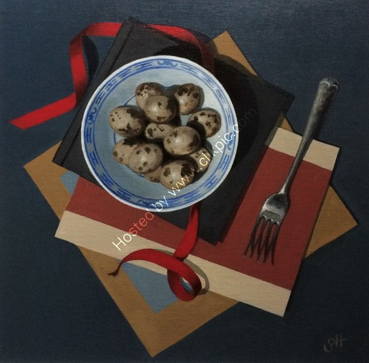 Quail's Eggs with Fork