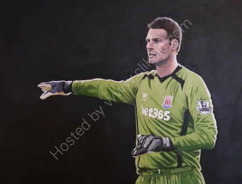Asmir Begovic Stoke City and Bosnia and Herzegovena goalkeeper.