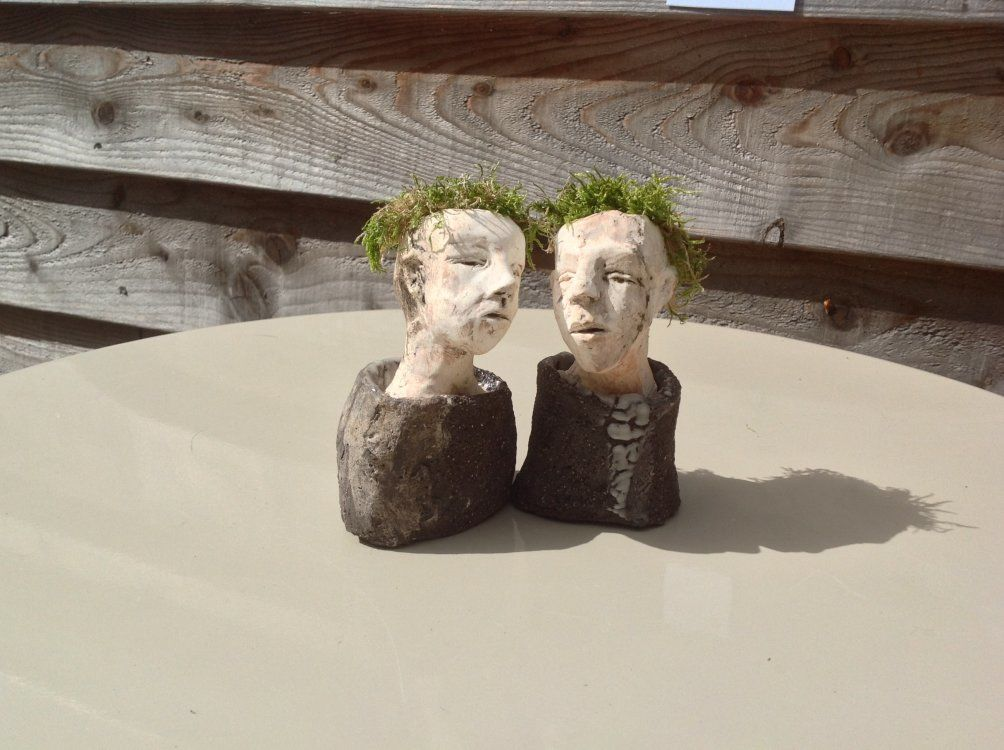 small ceramic heads