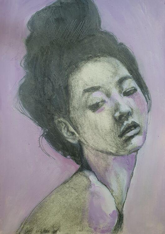 Mina in Manganese Violet