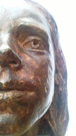 Faye - bronze portrait head