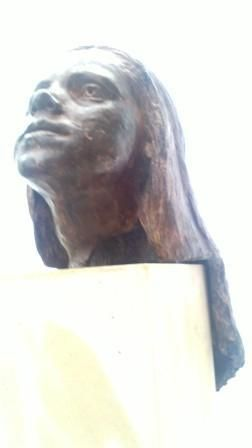 Faye - Bronze portrait head