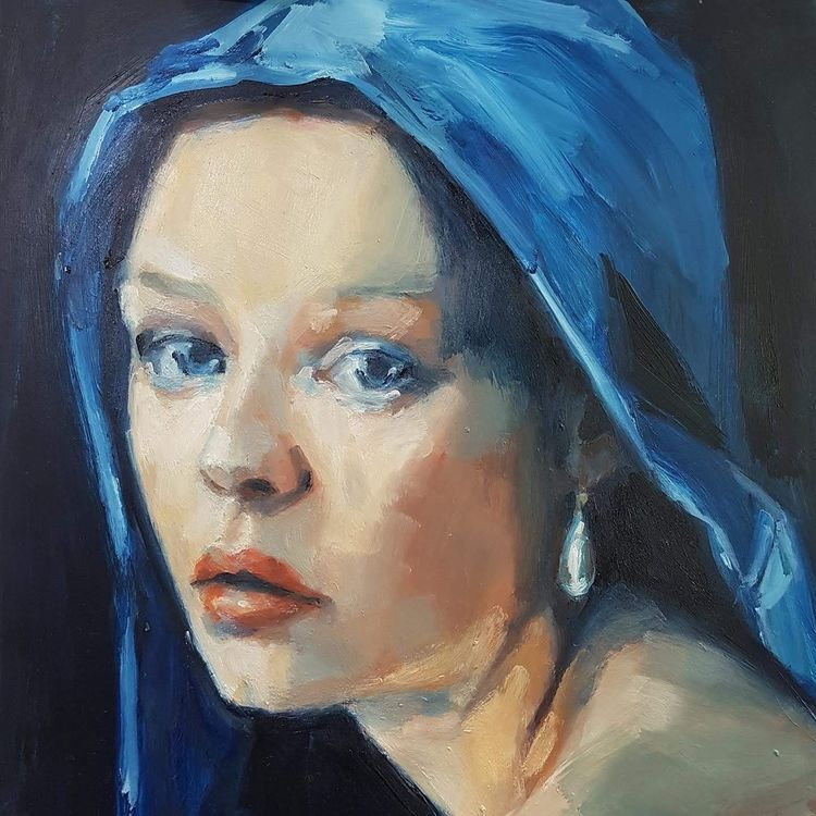 Girl with a Blue Hood