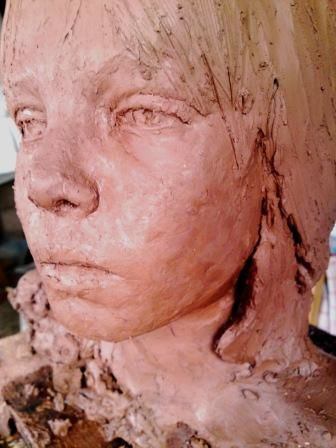 clay portrait head