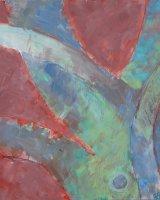 Cherry tree Pruned, 38 x 32 cms, acrylic on box panel, 2015