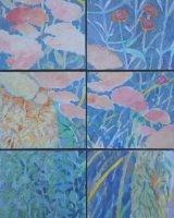 Garden Refuge, 89 x 67 cms (assembled), acrylic on box panels, 2011