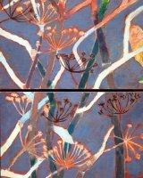 fennel Autumn Diptych, 66 x 38 cms, (assembled) acrylic on box panels, 2016