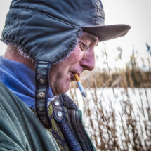 Fisherman at Cotswold Water Park